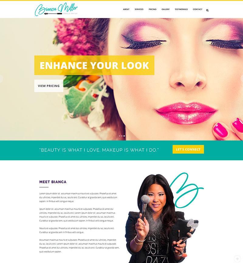 makeup artist website template
